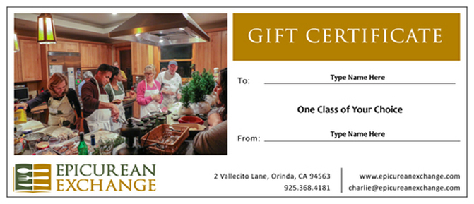 gift certificates epicurean exchange culinary travel